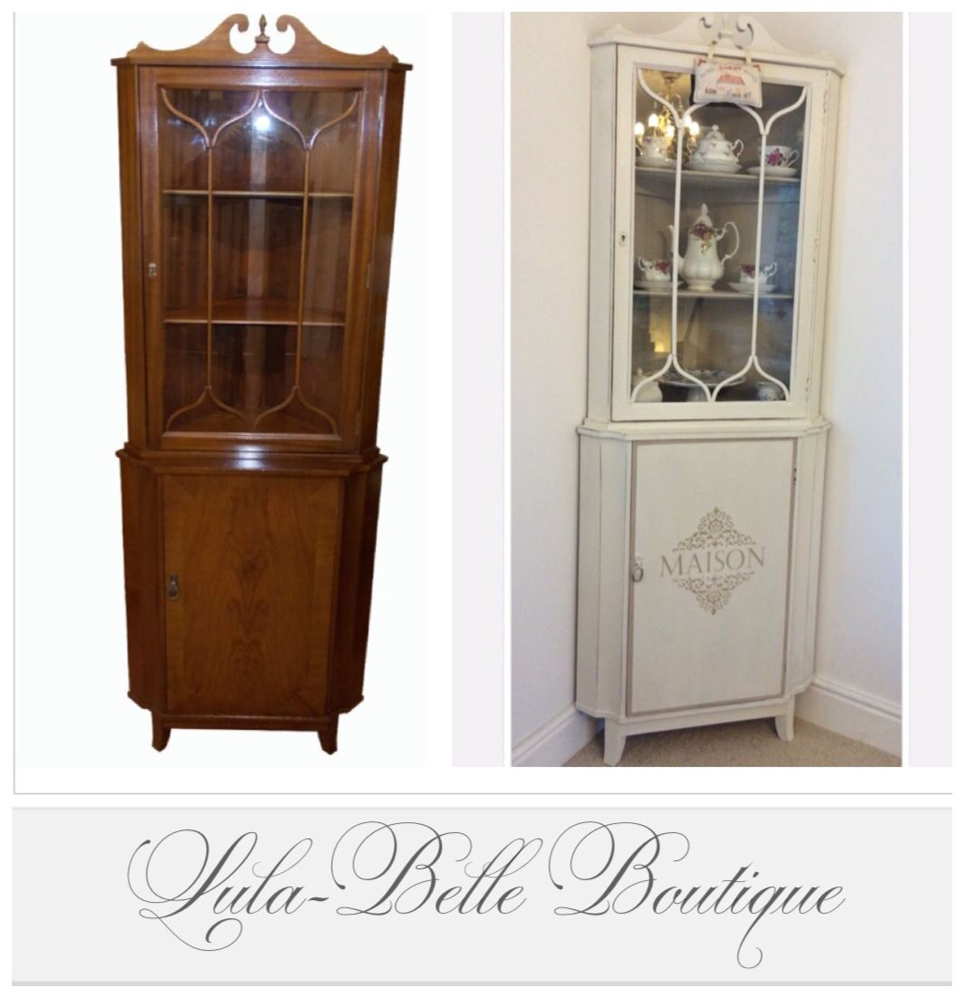Strongbow Corner Cabinet Transformation In Annie Sloan Old