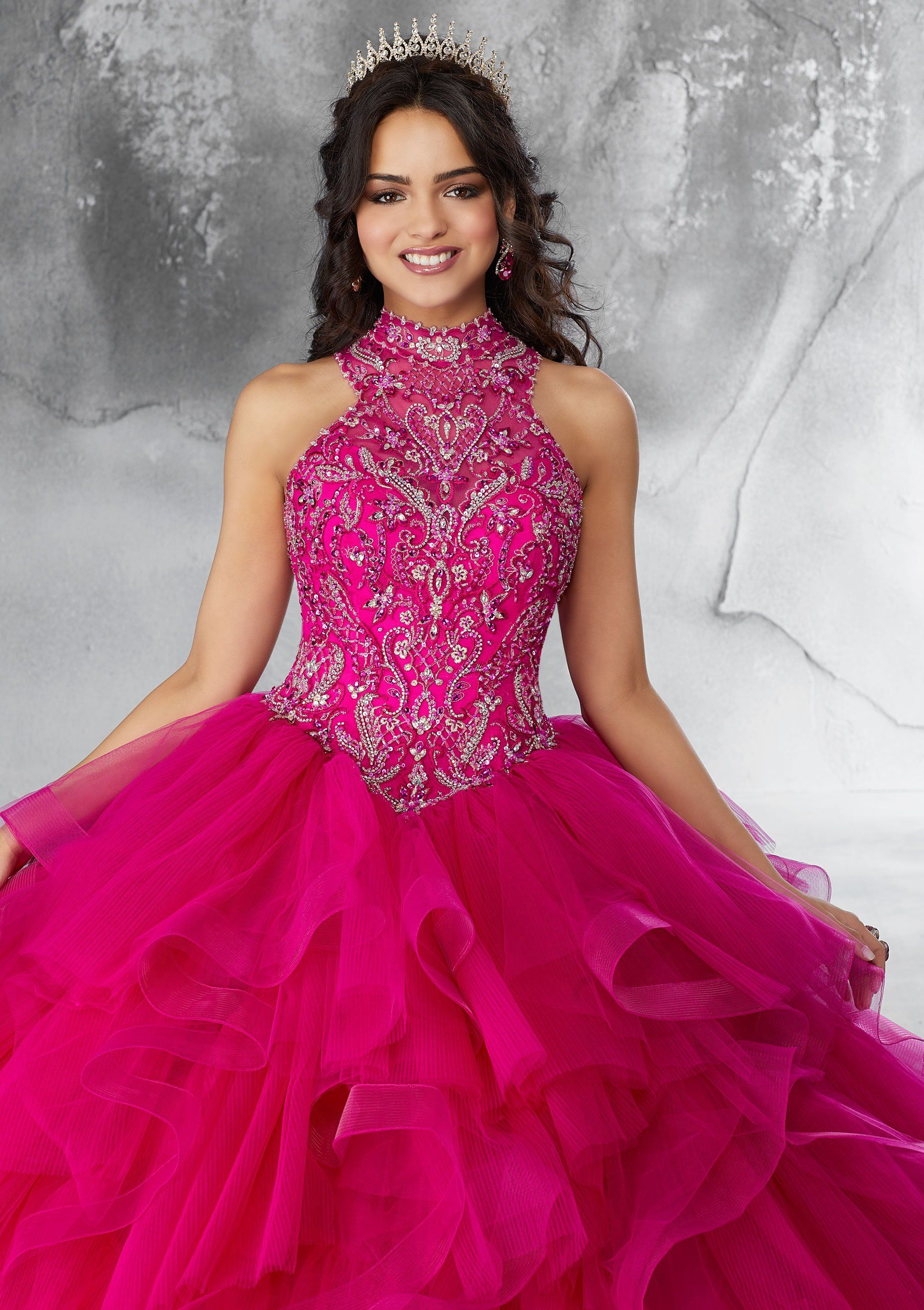 c8d0114d0e Ruffled Halter Quinceanera Dress by Mori Lee Vizcaya 89187 in 2019 ...