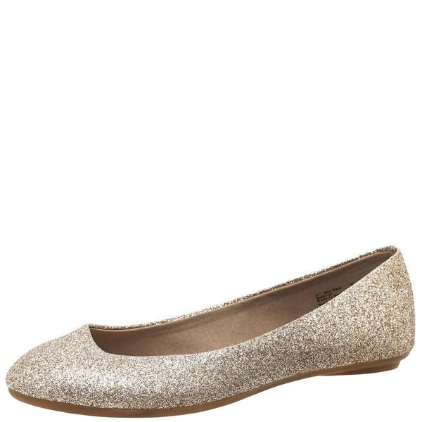 Chelsea Gold Glitter Flats Payless Want This