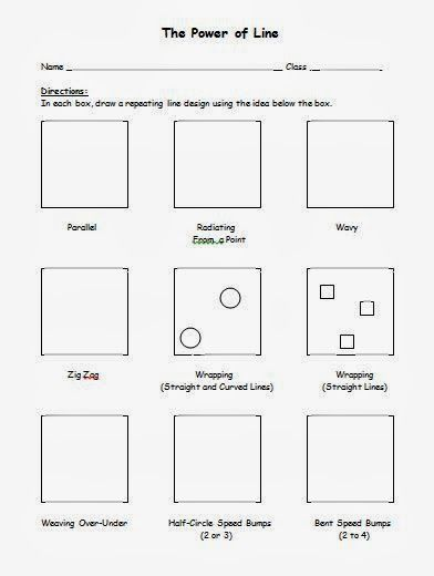 Line Designs Art Worksheets : Free op art line design worksheet bridget riley slideshow