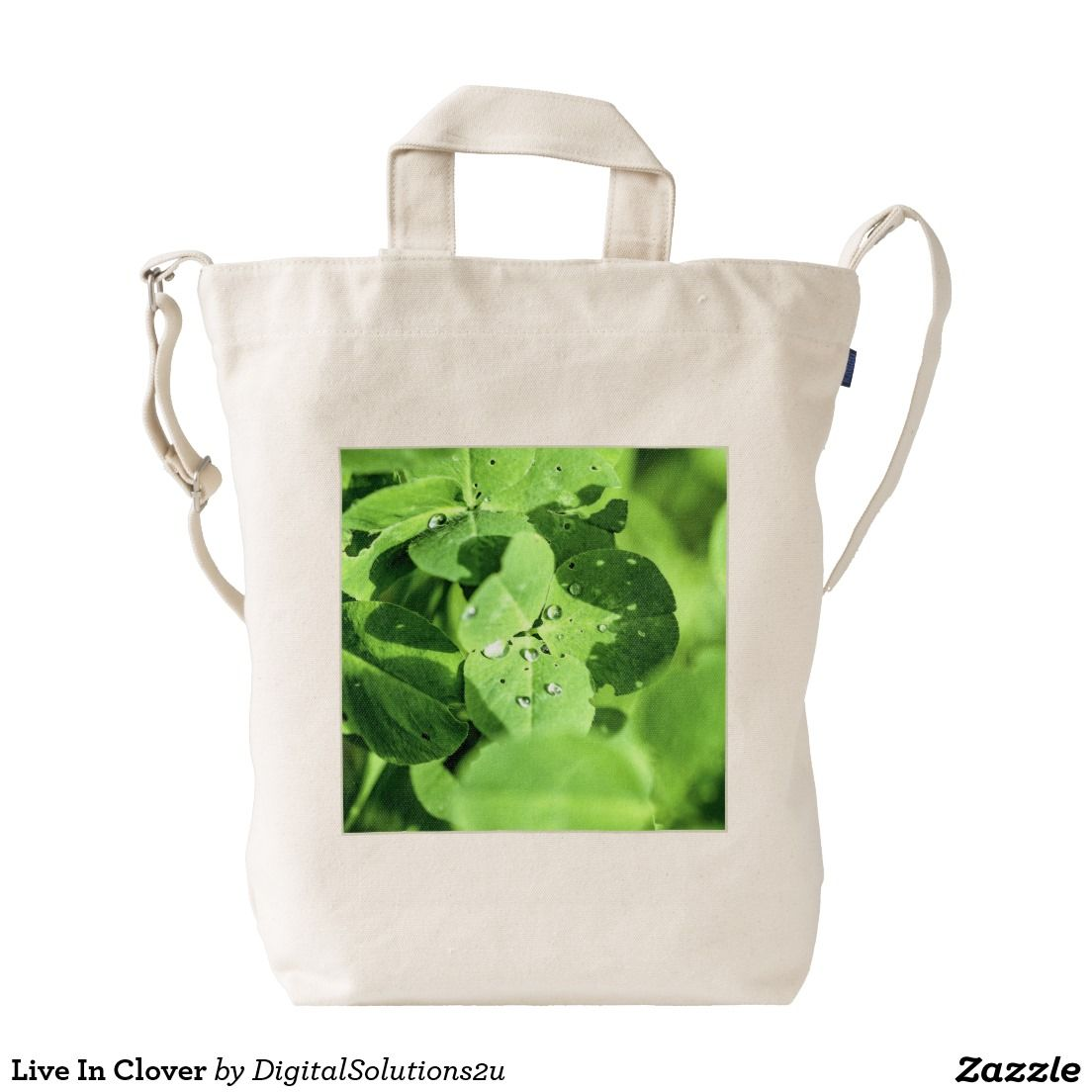 Live In Clover Duck Canvas Bag