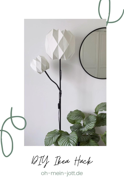 Diy Upcycling Der Stehlampe Not Von Ikea Video In 2020