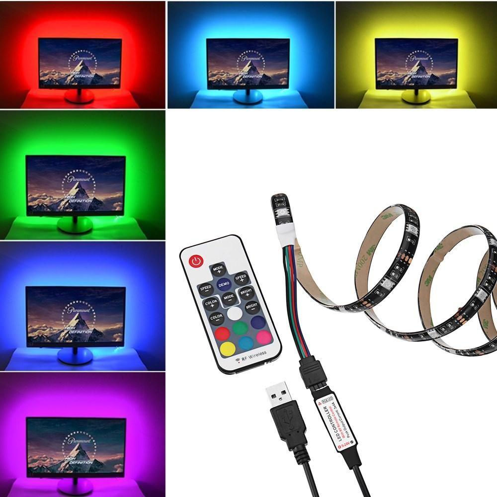 1M USB Power RGB 5050 SMD 30LED Strip LCD Monitor TV