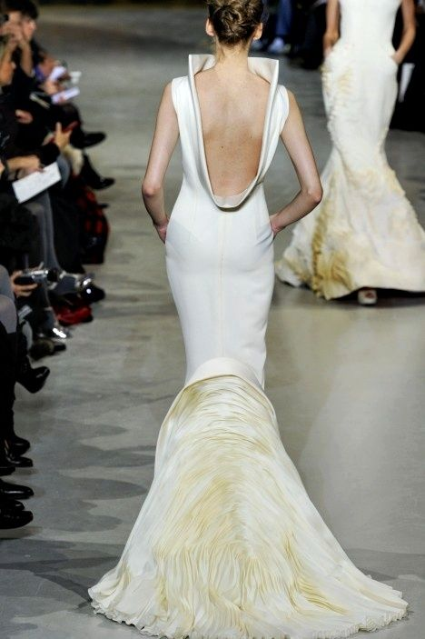 Stephane Rolland - Spring 2010 Couture    Amazing back to this, now I wonder what the front detail looks like… simple or just as delicate.