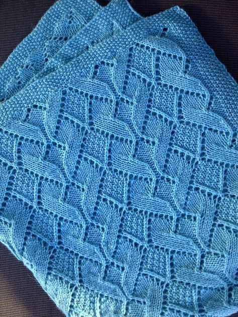 Free knitting pattern for Sand Dunes Baby Blanket in moss stitch and ...