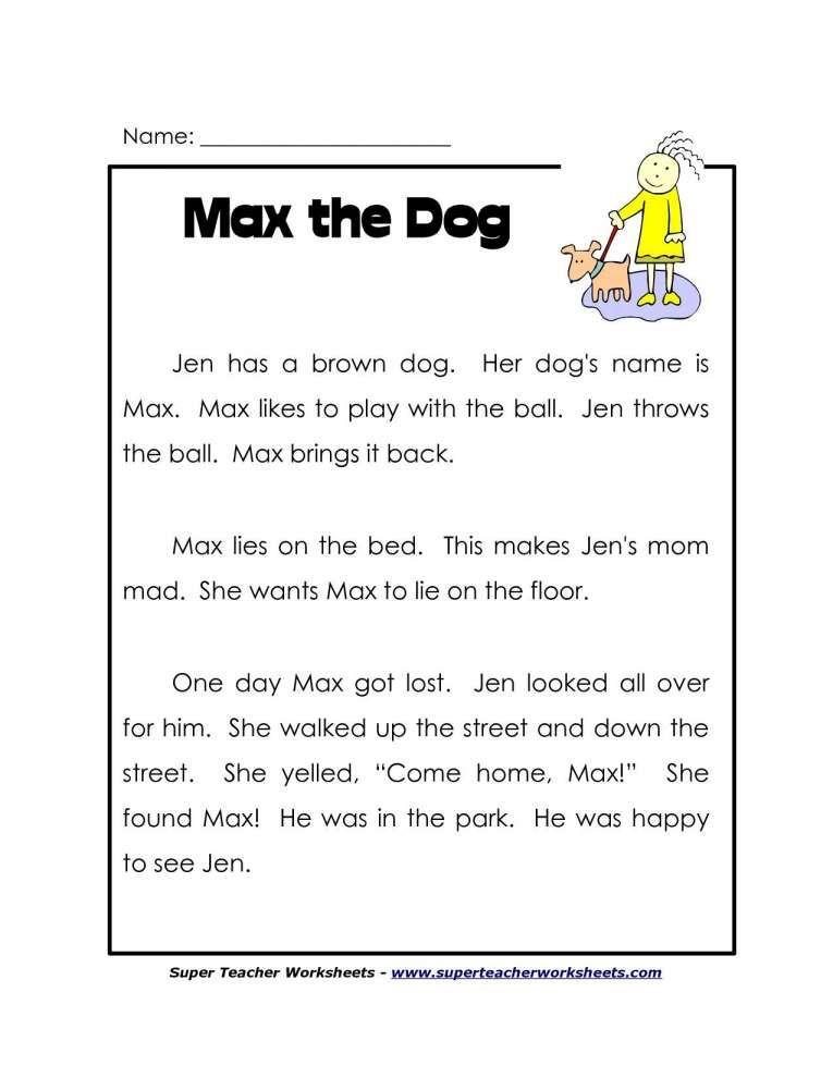 Kindergarten Reading Comprehension (Summer) Kindergarten