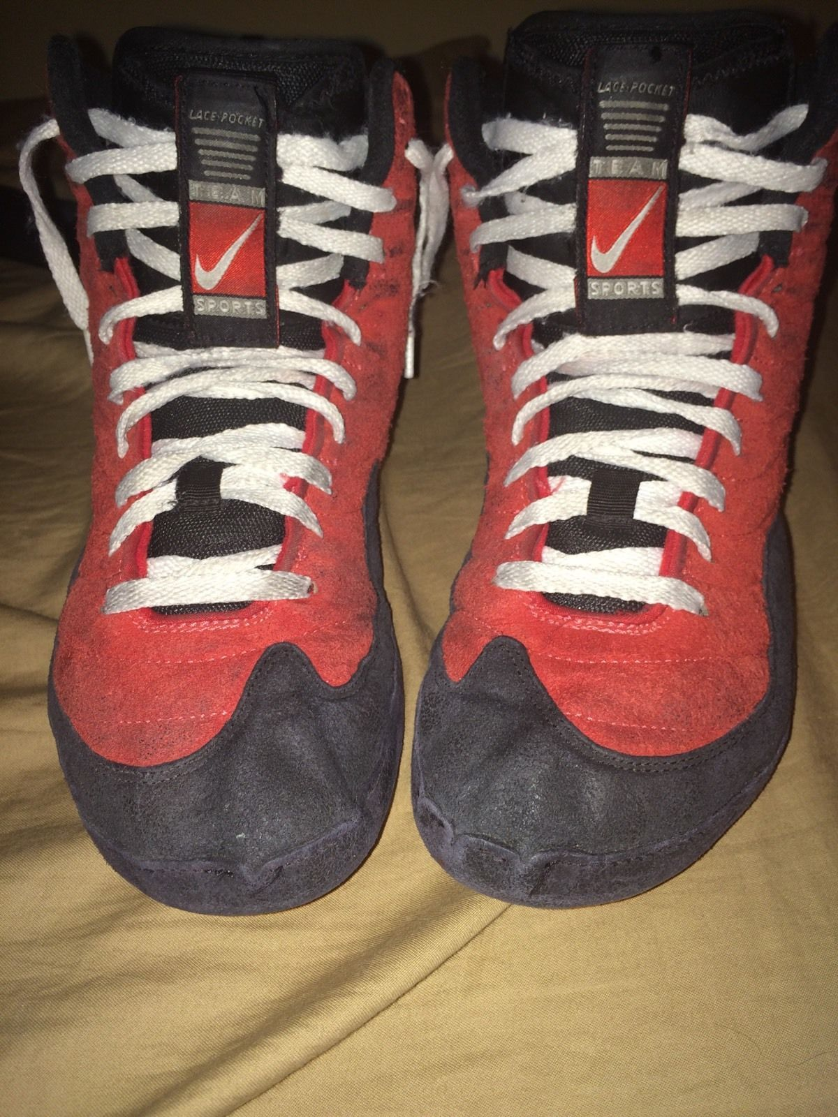 new styles 651d6 50a9e RARE Nike Red Reissue Inflict Wrestling Shoes   eBay