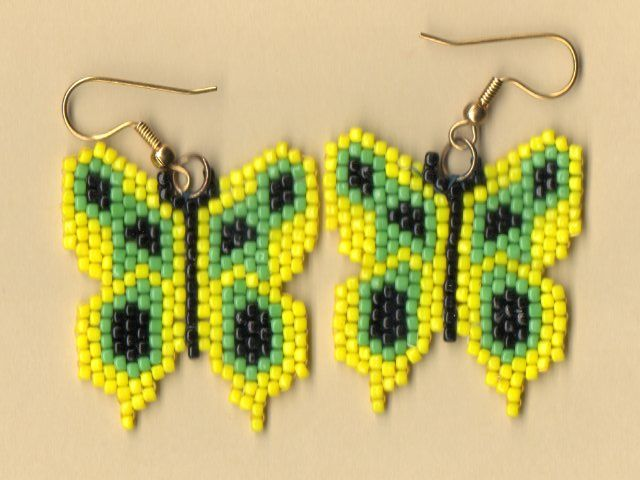 Native American Seed Bead Patterns Beaded Yellow