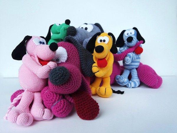 Häkelanleitung Schnuffelhund Othello https://www.crazypatterns.net ...