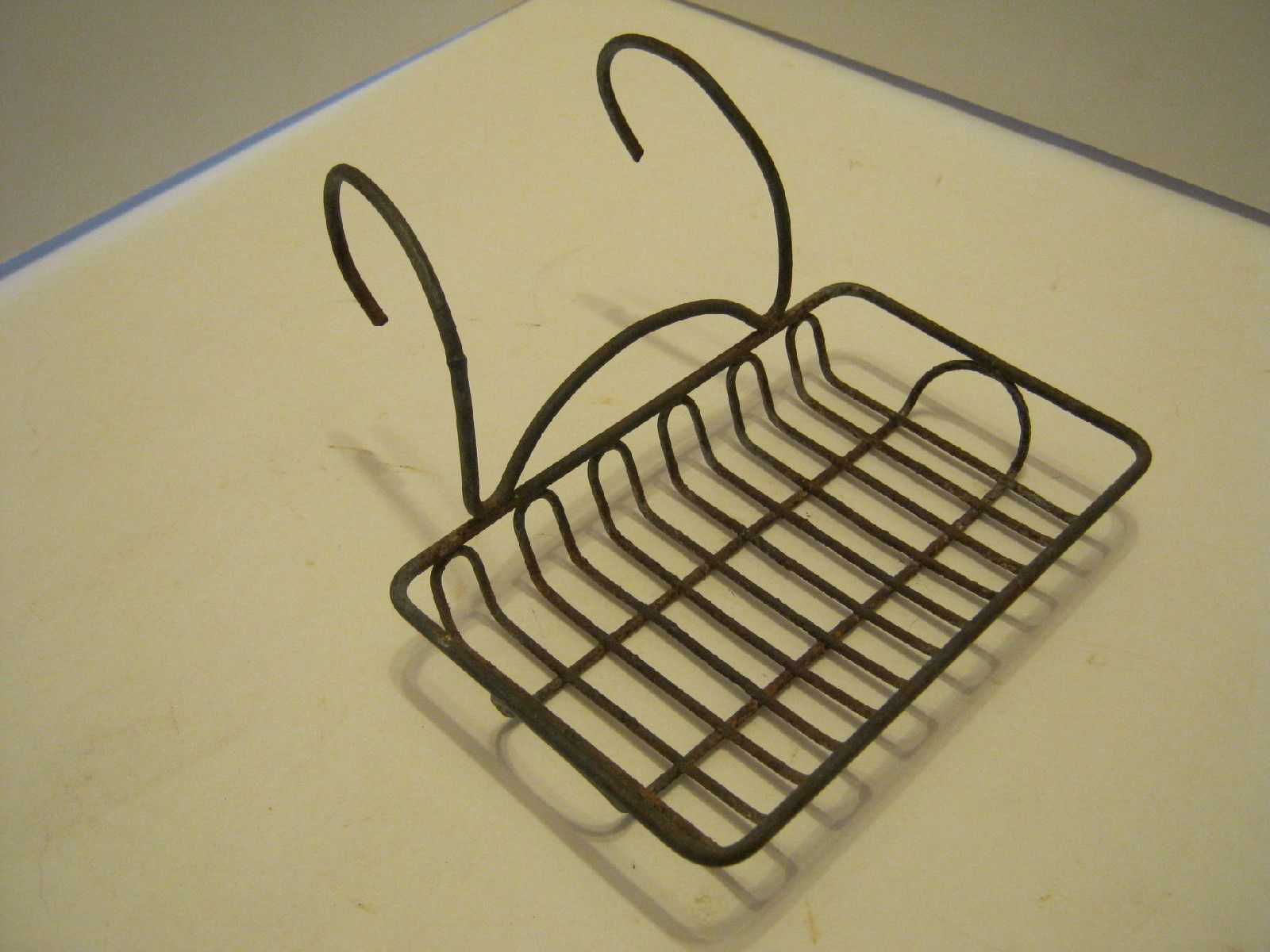 Antique Wire Soap Dish Holder For Farmhouse Sink Or Claw Foot Bath