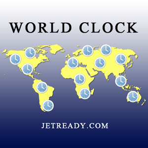 Designed and developed by noted travel expert Joel Widzer, Psy.D., this app will help manage your Jet Lag with this World Clock and Get information about jet lag causes, symptoms, prevention and treatment. Learn how to minimize the effects of travel across time zones with some helpful tips and strategies.  This app offers a global map with features to monitor time differences between two cities along with the ability to calculate travel time between two destinations.