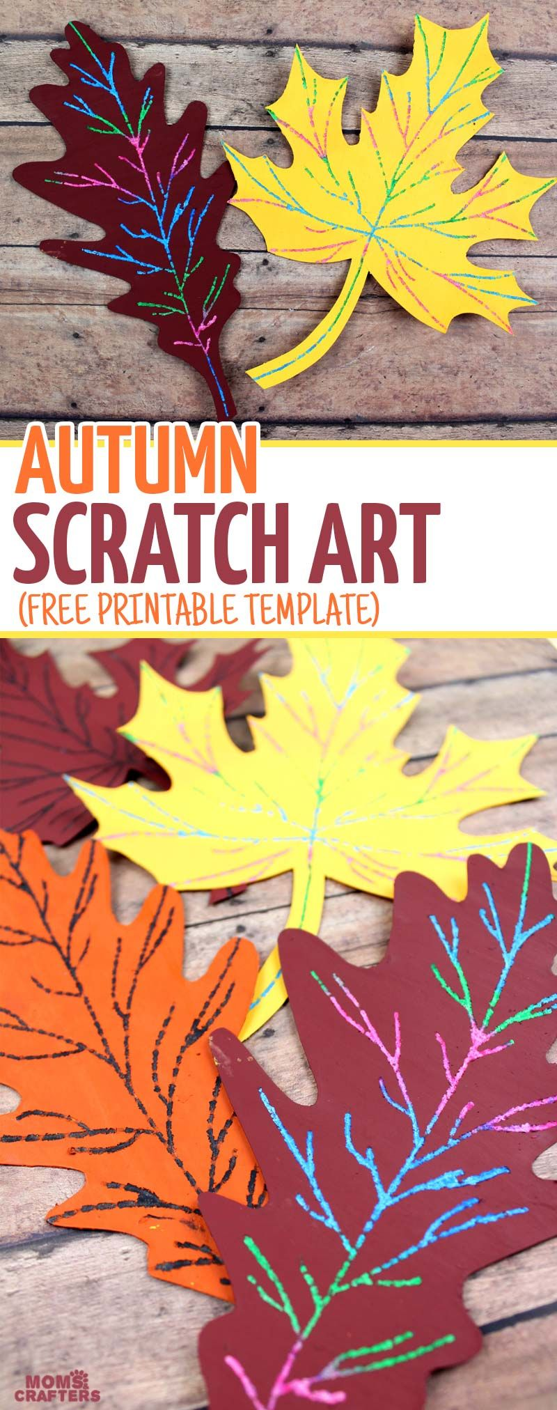 Scratch art fall leaf craft fall leaves crafts scratch art and make this beautiful scratch art fall leaf craft a beautiful and easy autumn paper craft sciox Image collections