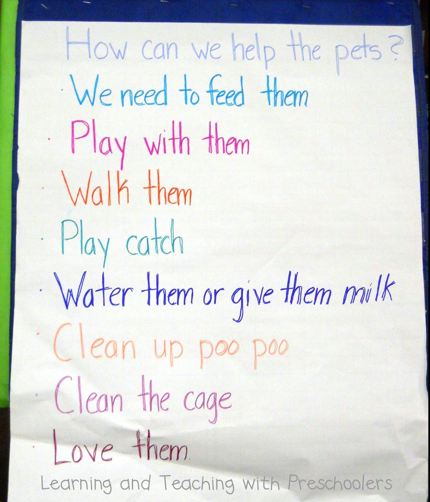 learning and teaching with preschoolers pets theme pinterest