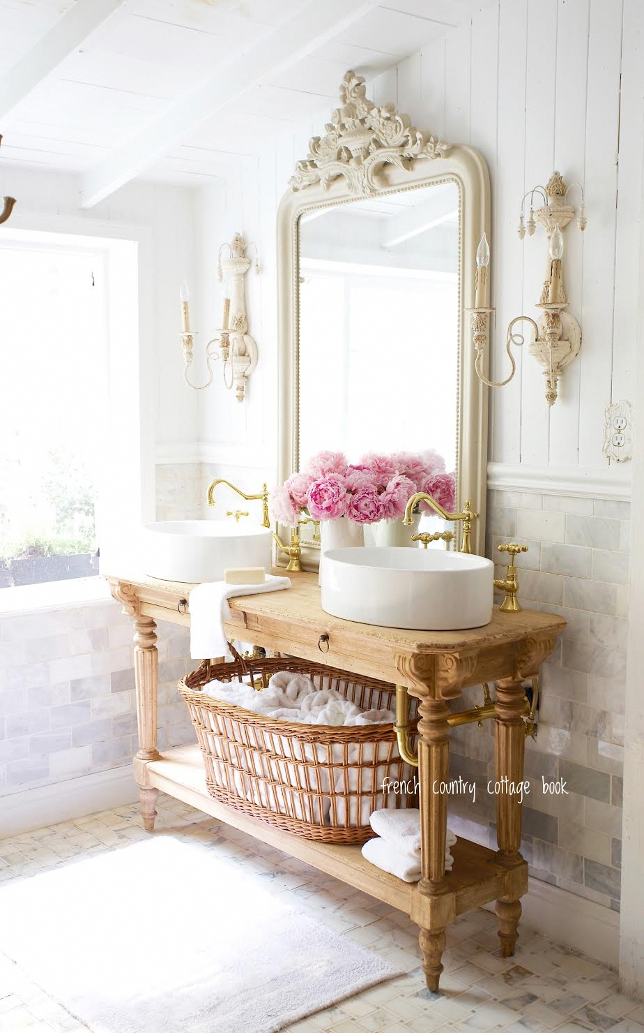 Simple Bathroom Refresh Ideas For Summer French Country Cottage Frenchdecorat In 2020 French Cottage Bathroom French Cottage Decor French Country Decorating Bedroom
