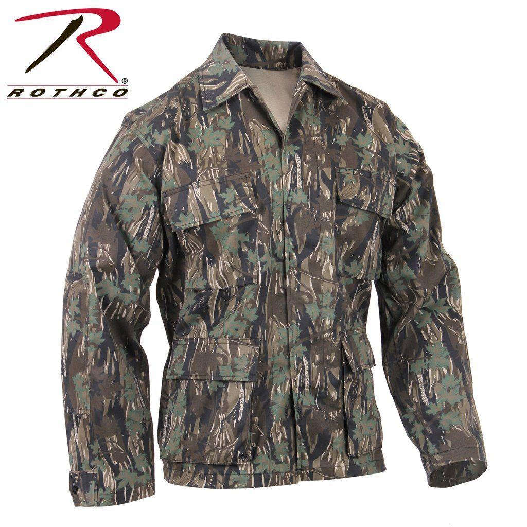 Smokey Branch Camo Military BDU Fatigue Shirt Rothco 8850