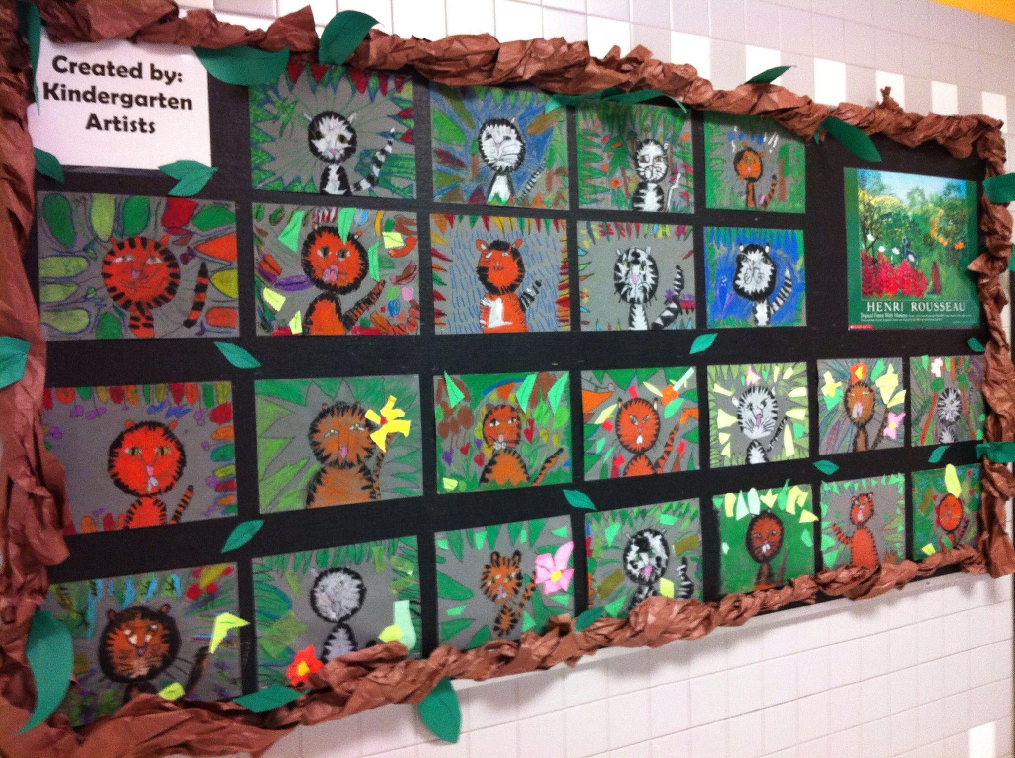 Henri Rousseau Tigers Art History Projects For Kids Kindergarten Art School Art Projects
