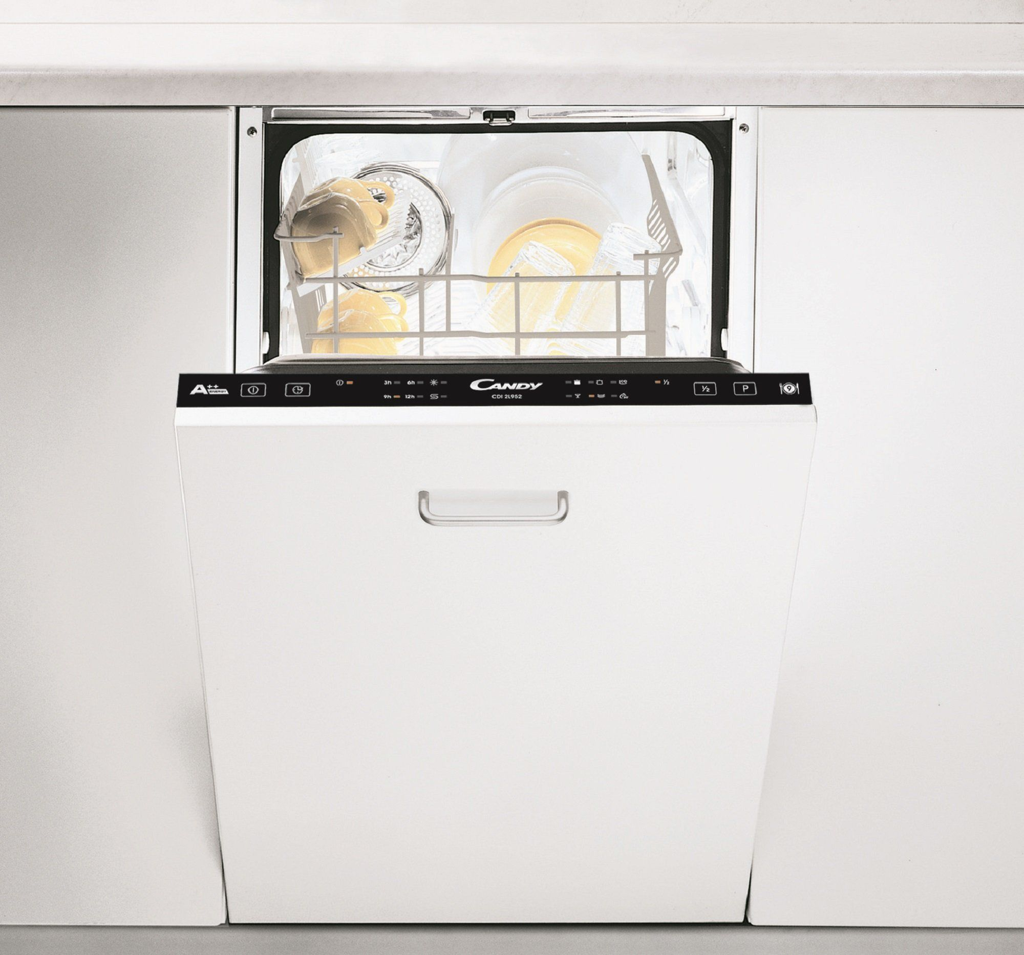 Candy CDIL952 Slimline Dishwasher White £249.99 Argos