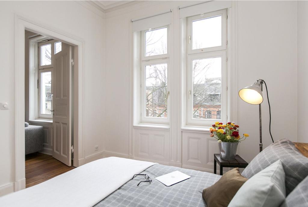 Schlafzimmer Hamburg stilvoll eingerichtetes schlafzimmer in hamburger altbauwohnung mit