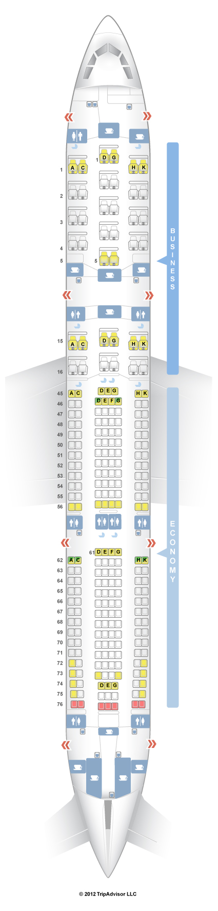 Seatguru Seat Map South African Airways Airbus A340 300 343