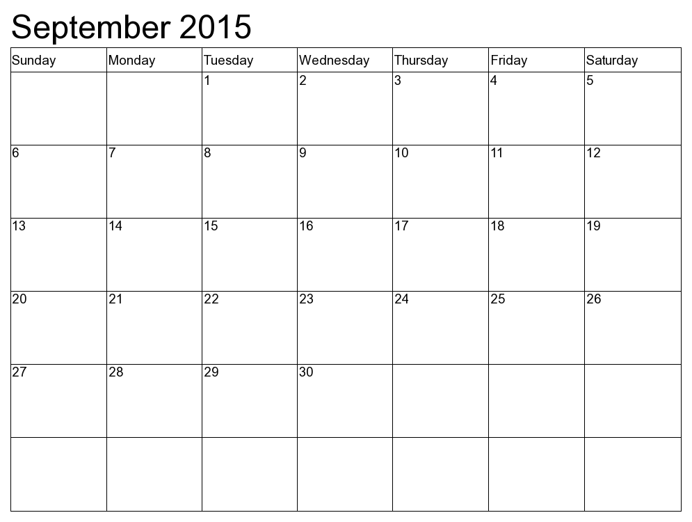 Full Page Calendar Sept 2015 Google Search Notice Boards