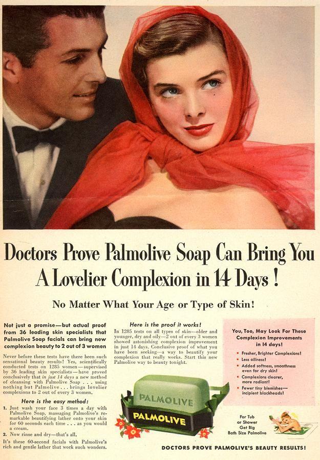 Vintage soap ad (1950s)