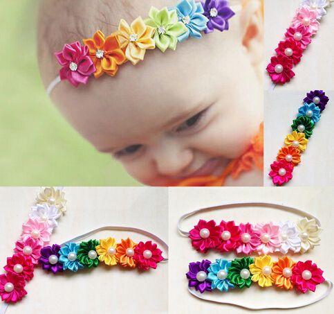 Infant Baby Girls Colorful Headband Flower Bow Headwear Hair Accessories