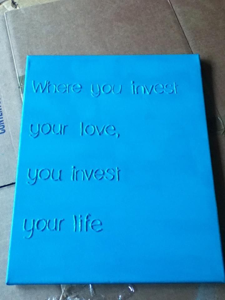 puffy paint letters on canvas paint whole thing crafty