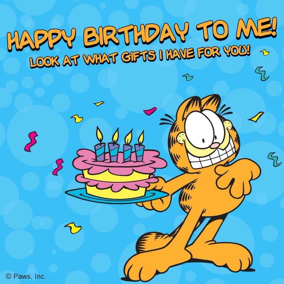 Happy Birthday To Me Garfield Cartoon Garfield Birthday Happy Birthday Me