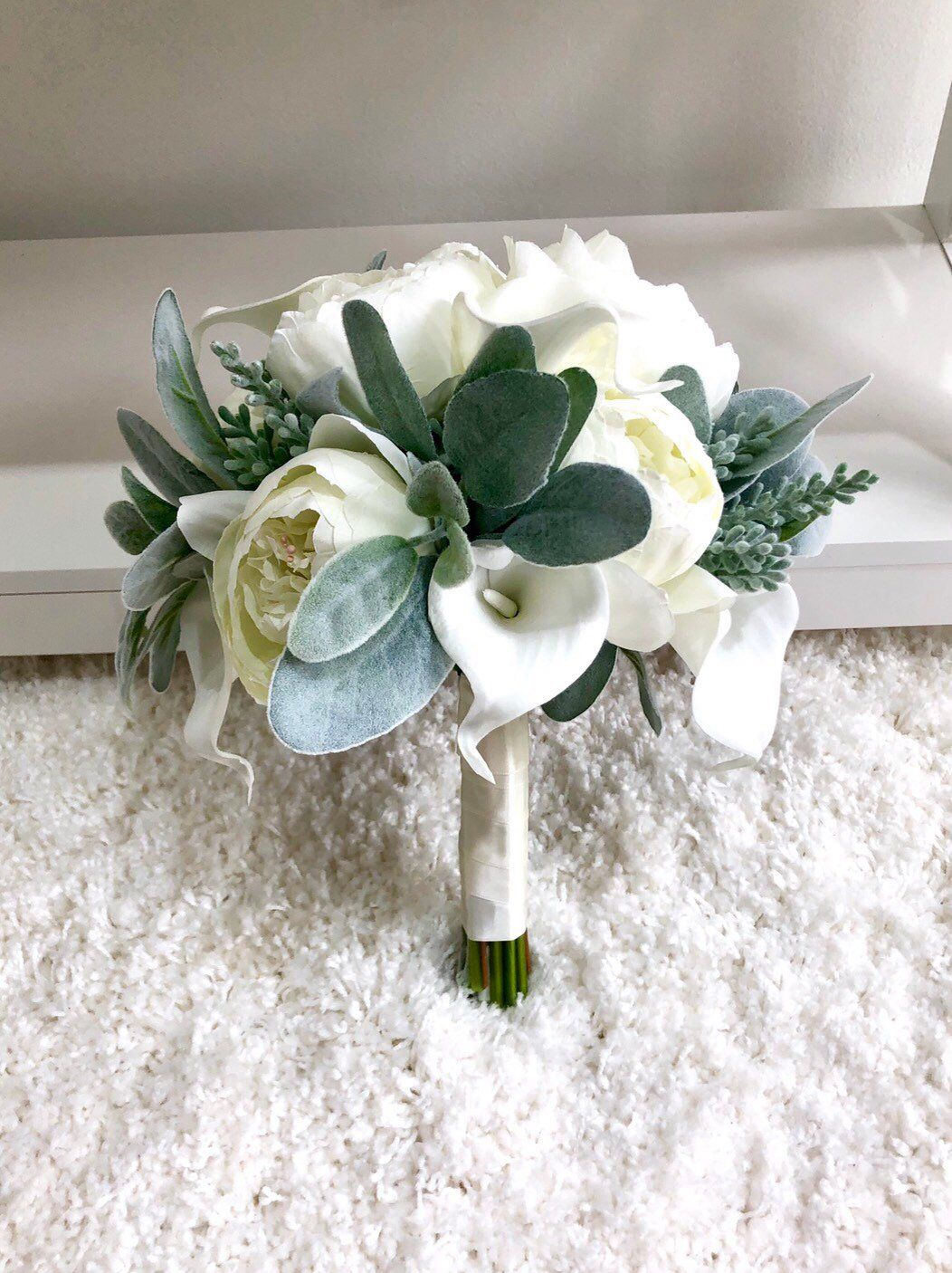 Customize Your Package Cream Peony Bouquet Ivory Peony Etsy Calla Lily Bouquet Wedding Bridal Bouquet Peonies White Bridal Bouquet
