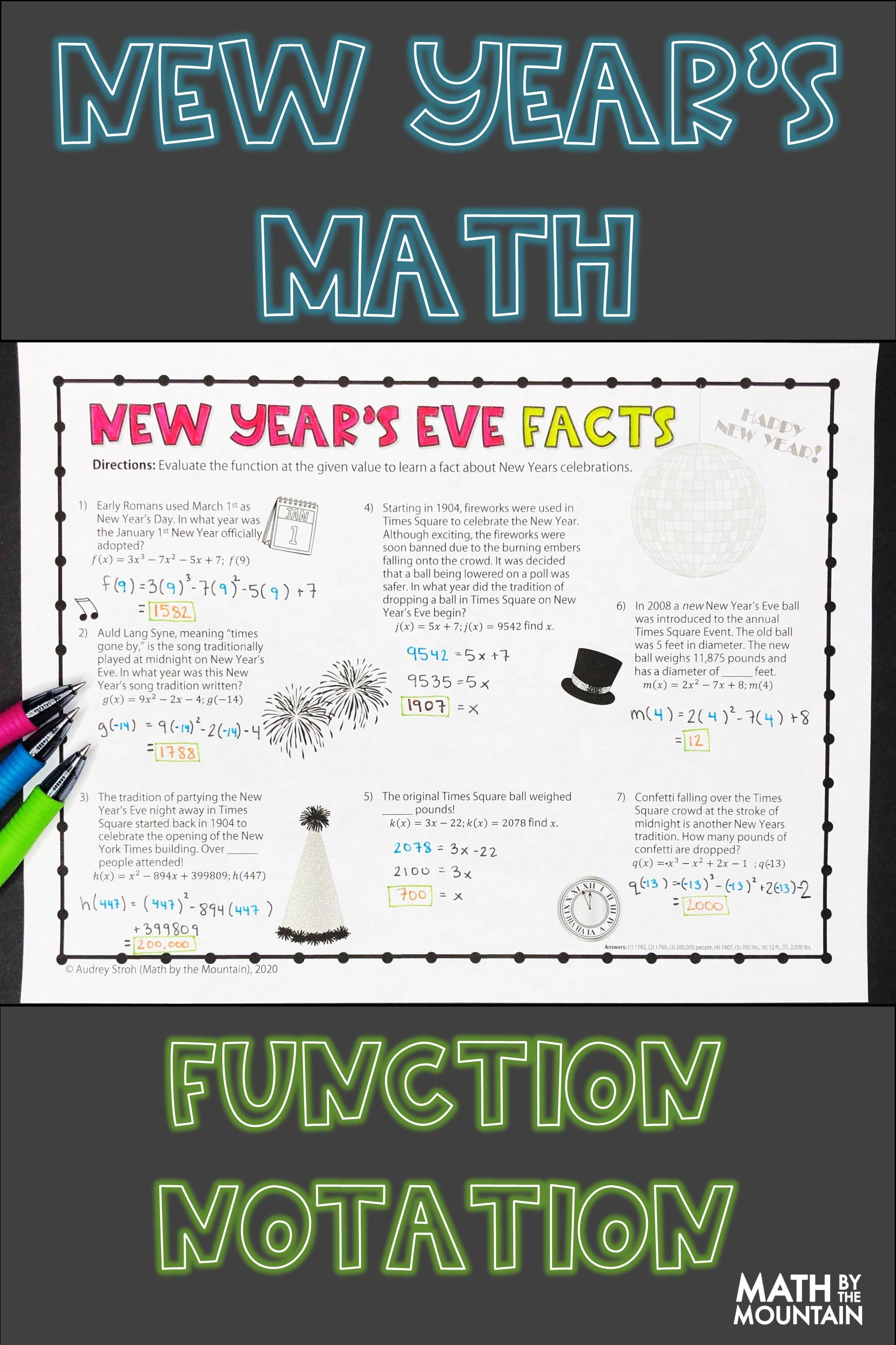 New Years Math Facts