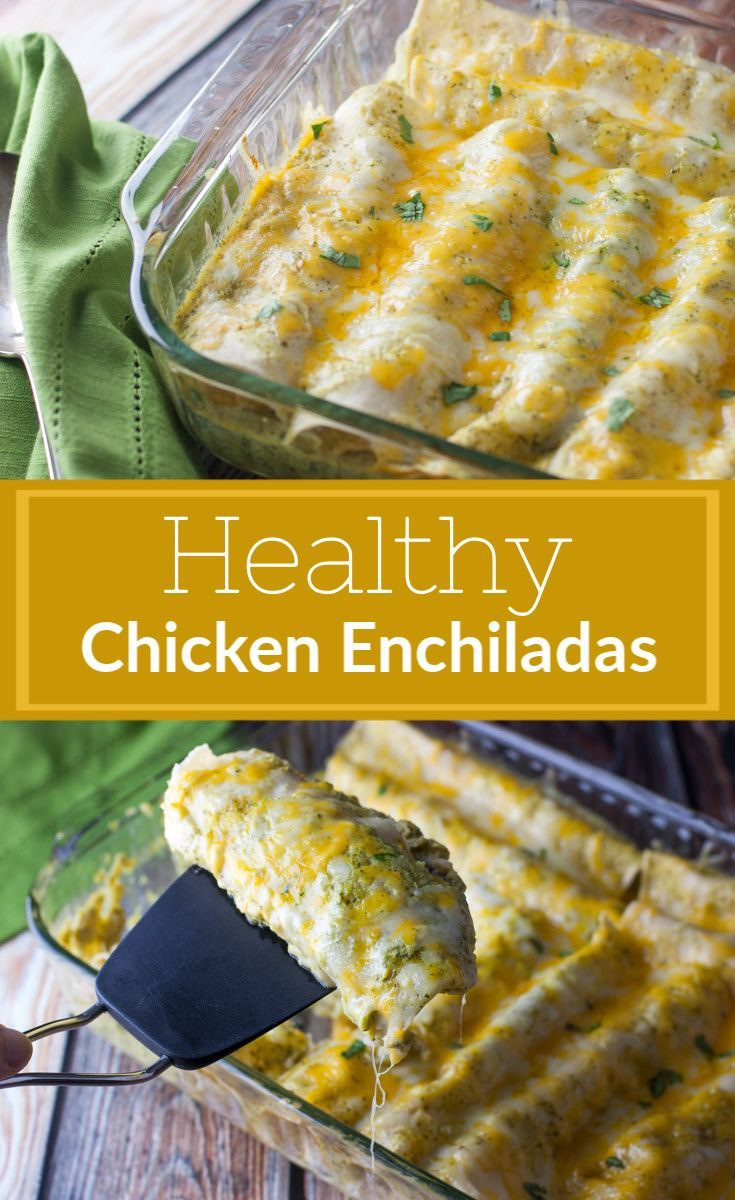Photo of Healthy Chicken Enchiladas ~ The Kitchen Snob