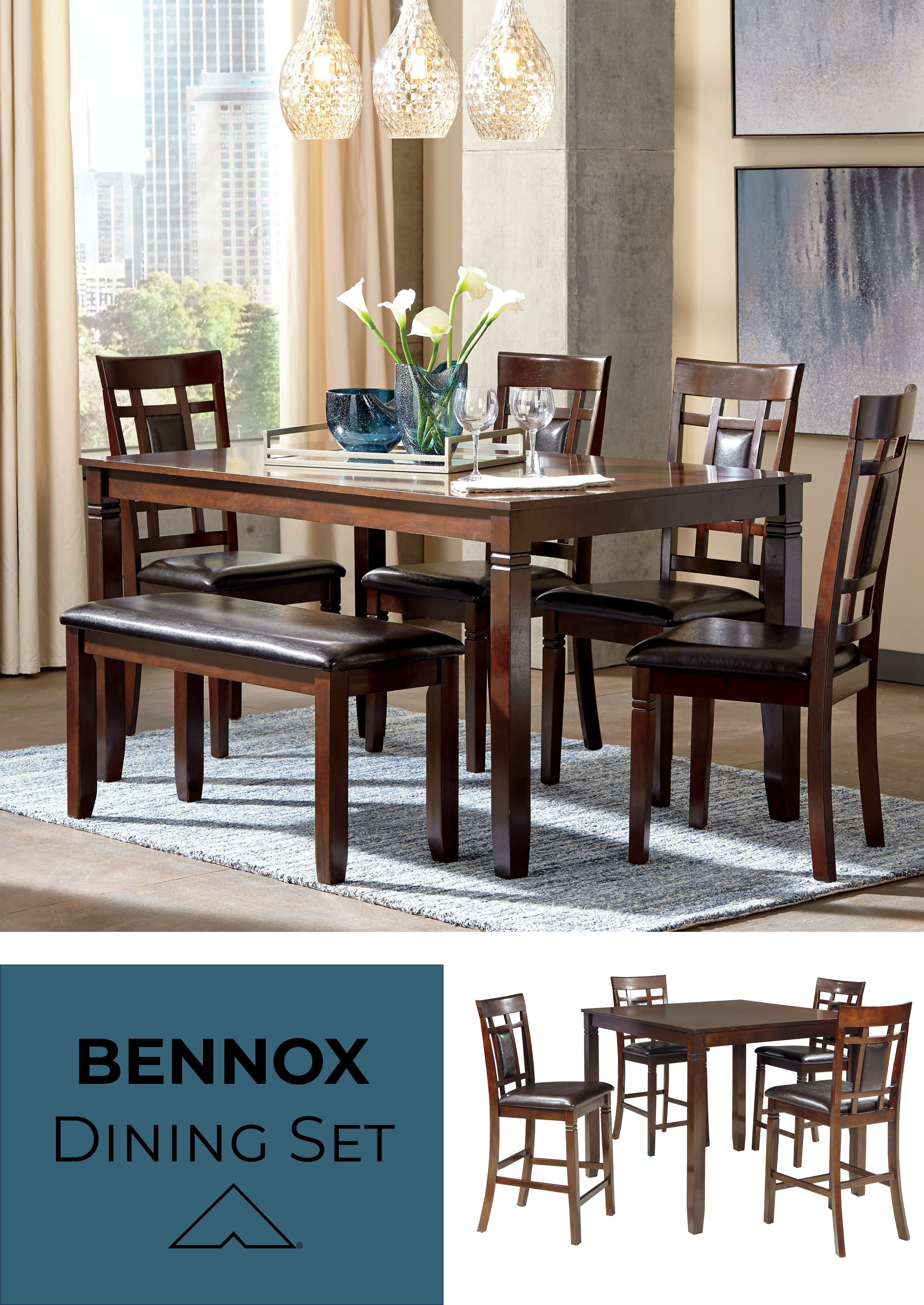 ralene dining table set on bennox brown dining room table set by ashley furniture ashleyfurniture homedecor homedecoride brown dining room table brown dining room dining room table pinterest
