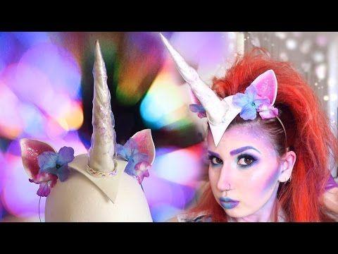 DIY Unicorn Headpiece - YouTube Halloween Pinterest Headpieces - diy halloween costume ideas for women