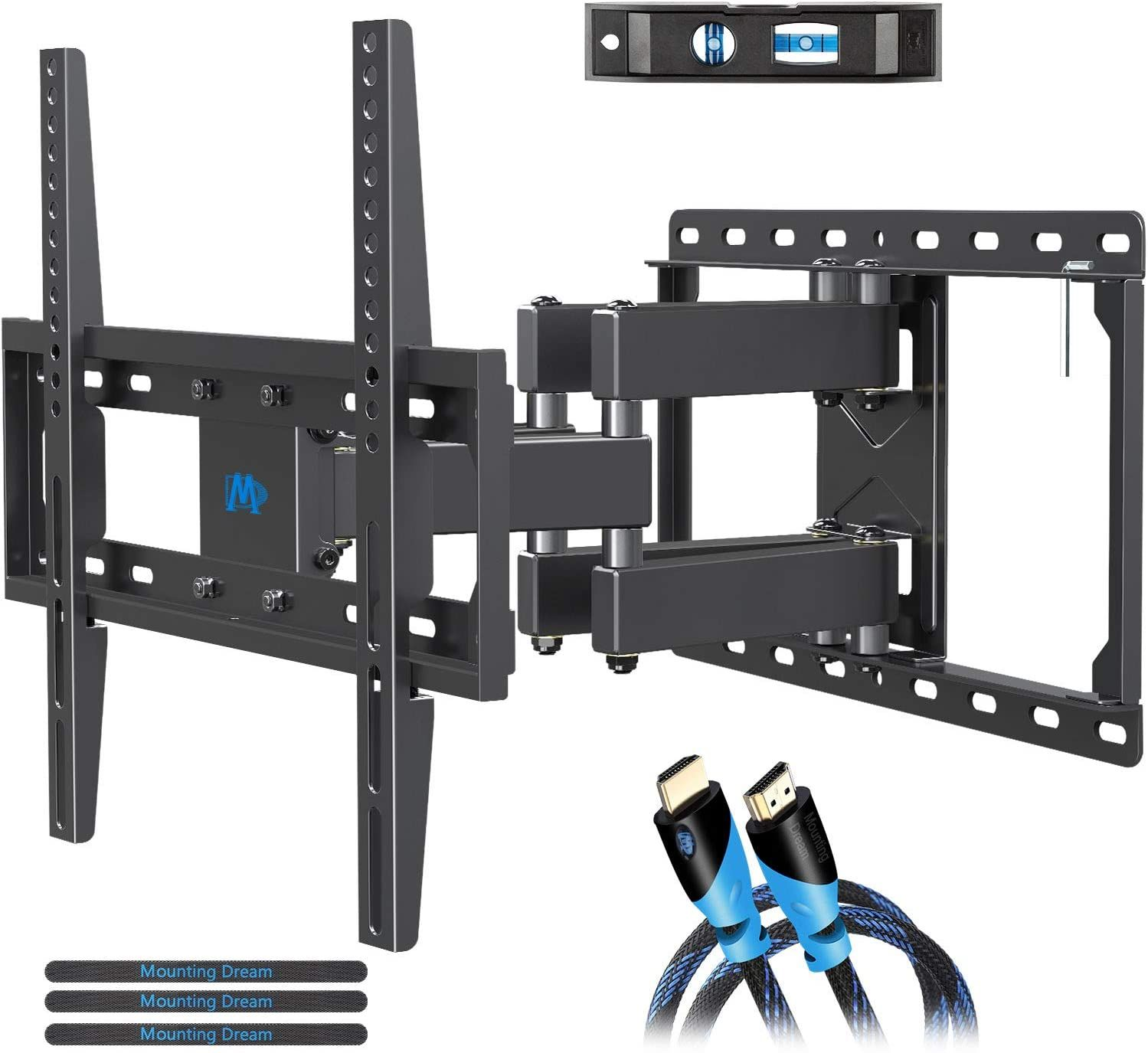 Mounting Dream Tv Wall Mounts Tv Bracket For Most 32 55 Inch Flat Screen Tv Mount Bracket Full In 2020 Wall Mounted Tv Best Tv Wall Mount Full Motion Tv Wall Mount