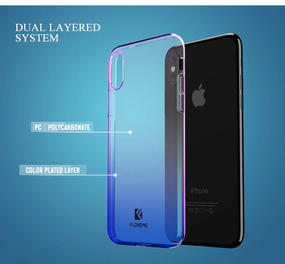ff9ae31b5aca97 Luxury Glossy Blue Gradient Hard Case for iPhone X iPhone XS Max Phone Case  for iPhone XR 8 7 Plus 5s 5 SE Cover