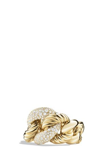 david yurman ring with diamonds in 18k gold available at nordstrom