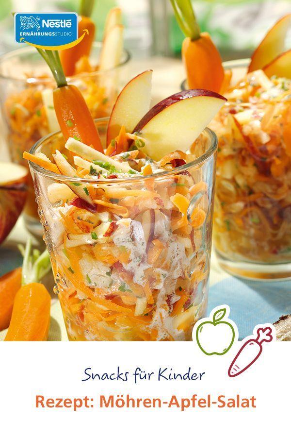 Snacks für Kinder | Rezept: Möhren-Apfel-Salat Rudi ...