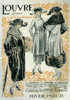 Les Grands Magasins Du Louvre En 1900 Affiche Vintage