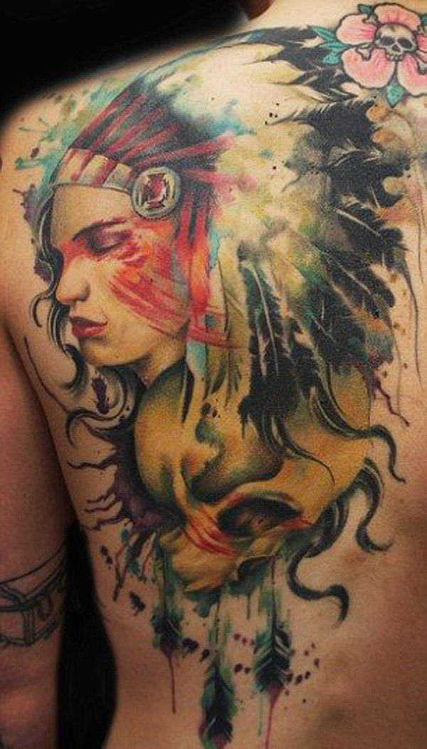 909f2f957 Native American inspired tattoo by Jay Freestyle - 25 Native American  Tattoo Designs <3 <3