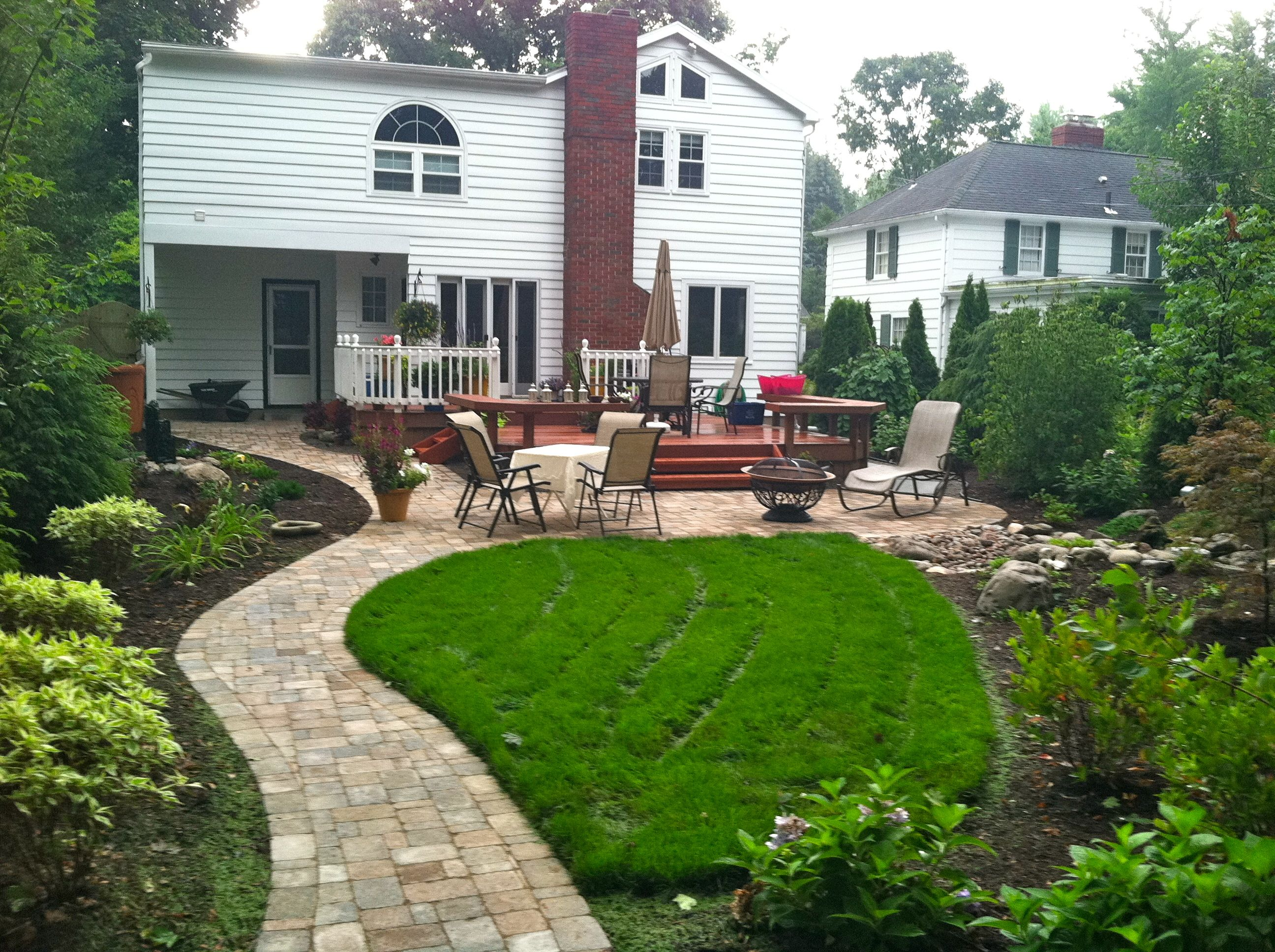 Patios Rochester Ny Brick Paver Patio And Walkway Design
