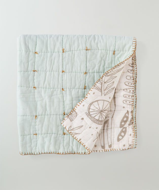 This Super Soft Baby Blanket With A Intricate Hand Drawn