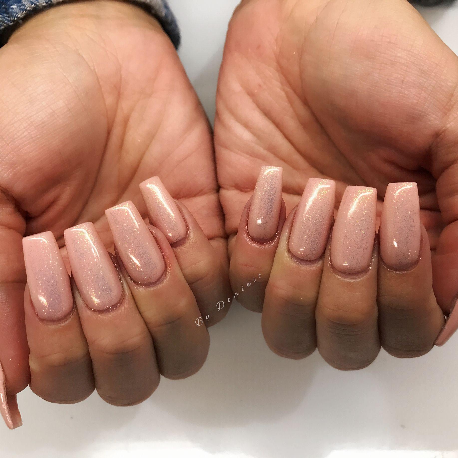 Fairy Dust on Nude | My creation of nail art! | Pinterest
