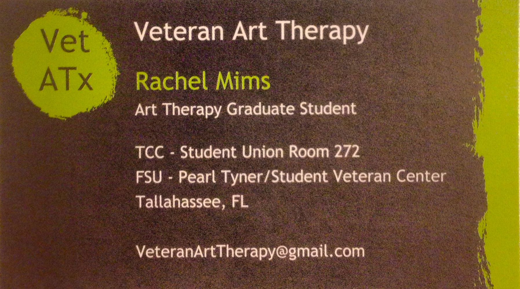 Rachel mims my business card for veteran art therapy essential rachel mims my business card for veteran art therapy colourmoves