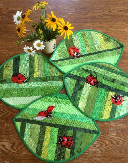 Quilted Placemats With Lady Bug Embroidery Advanced Embroidery