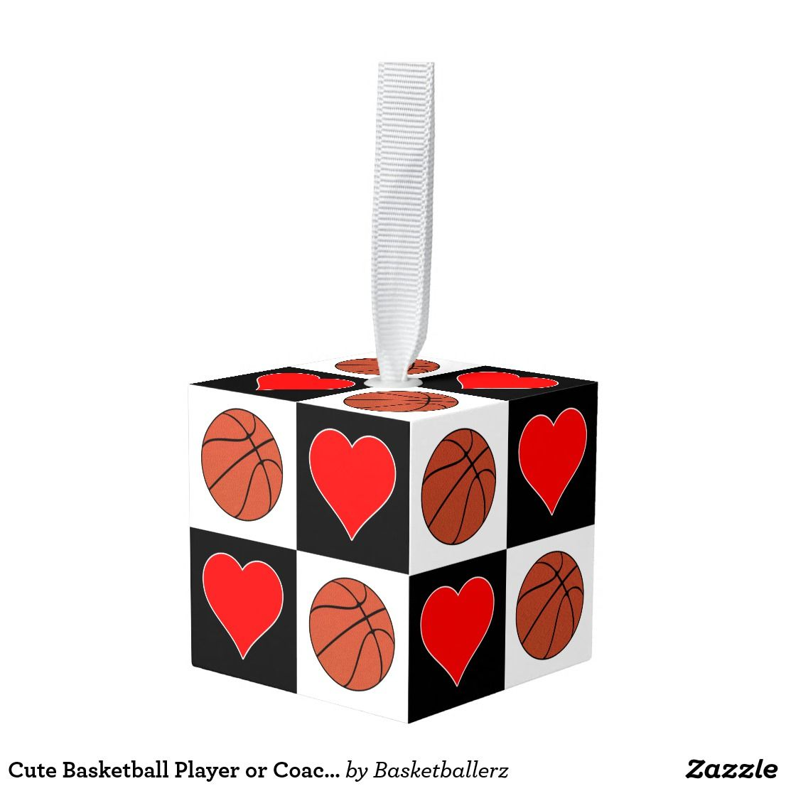 Cute Basketball Player Or Coach Christmas Sports Cube