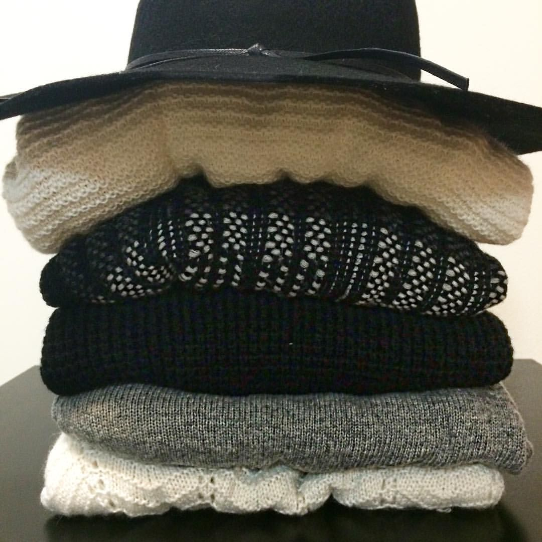 "Mia on Instagram: ""It's that time again! Broke my favorite chunky (black and white) sweaters from last year. And I found this hat from the #nsale that I forgot I had!!  I think that officially means I have a shopping problem..."""