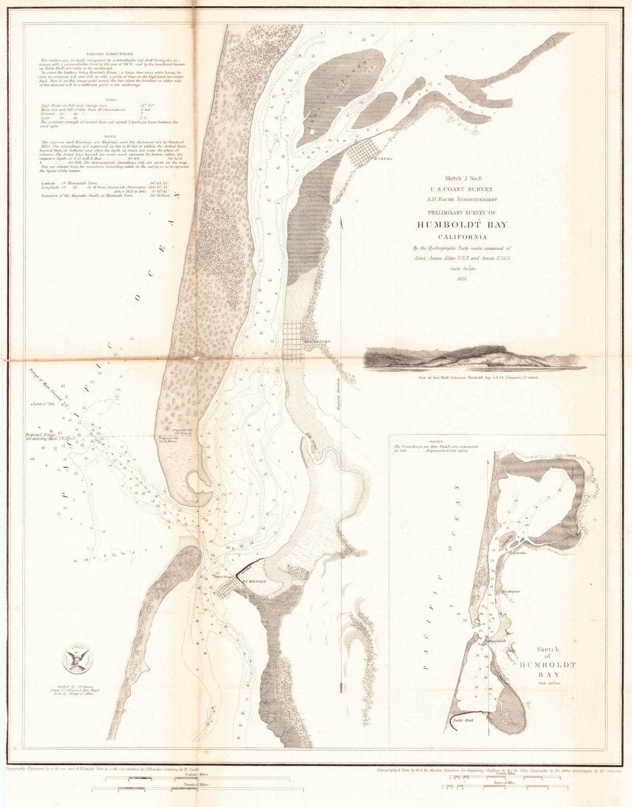 Map Of Us Washington Dc.Map Antique Preliminary Survey Of Humboldt Bay California U S