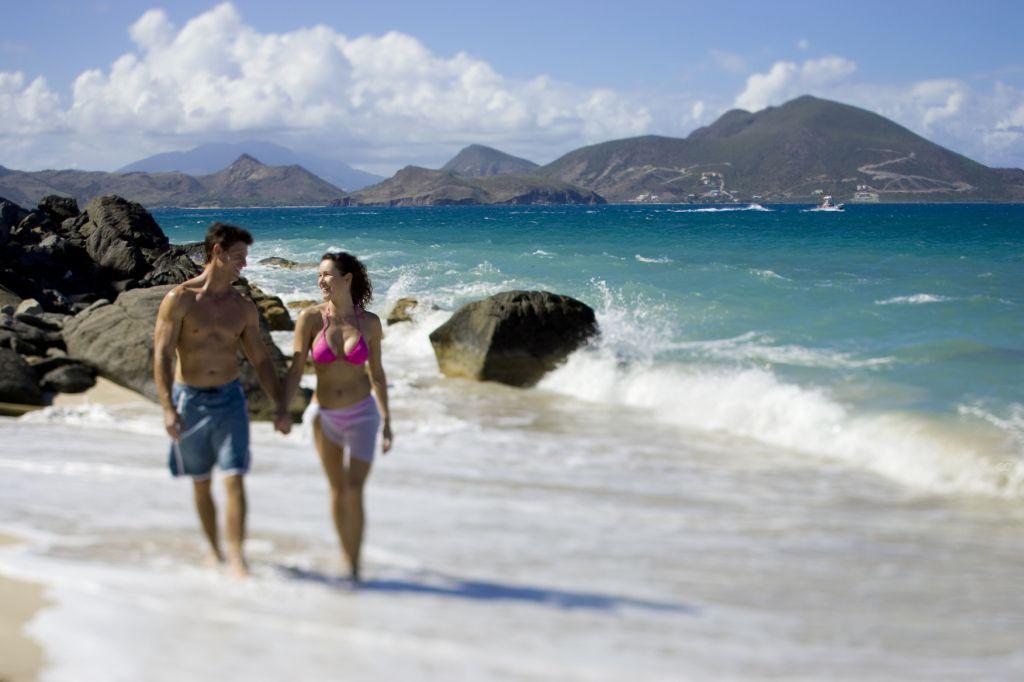 Take a walk on Lovers  Beach Newcastle Nevis