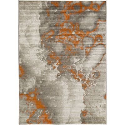 Brayden Studio Jax Light Gray Dark Burnt Orange Area Rug Allmodern