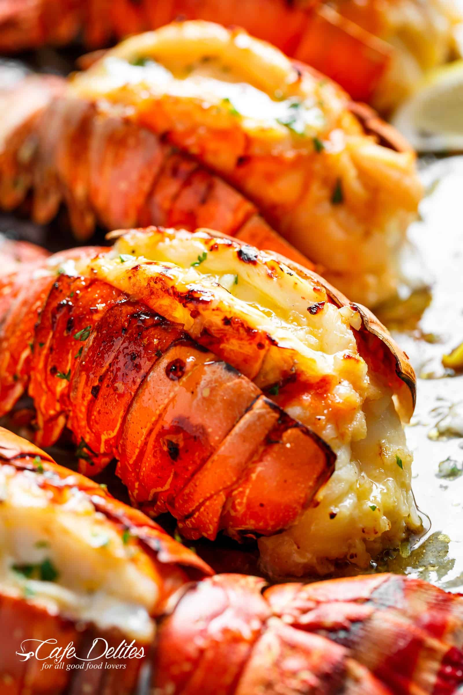 Broiled Lobster Tails With Honey Garlic Butter White Wine Sauce Is A Fancy Classy And Best Of All Easy To Make Recip Lobster Recipes Tail Lobster Recipes Food